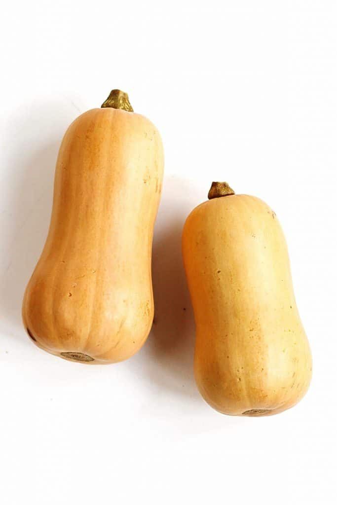 two butternut squashes