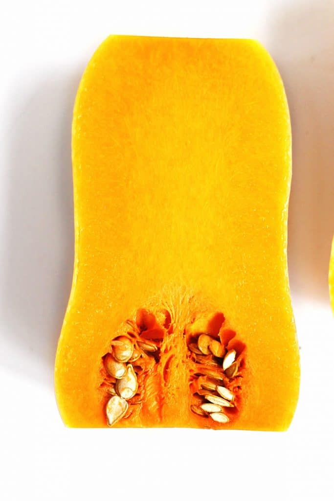 inside of a butternut squash
