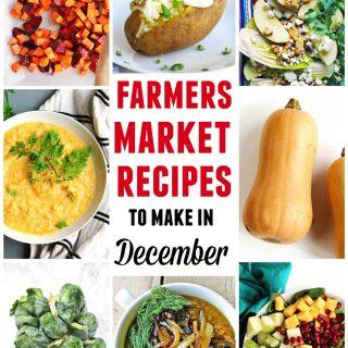 farmers market december recipes