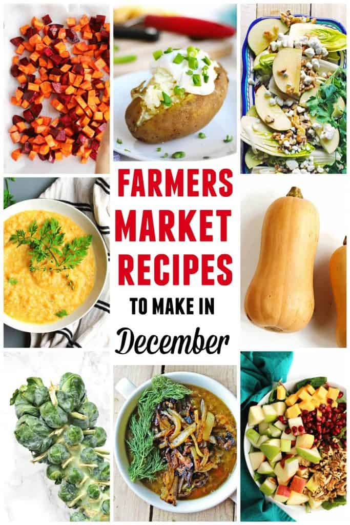 farmers market december recipes