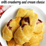 holiday crescent rolls with text