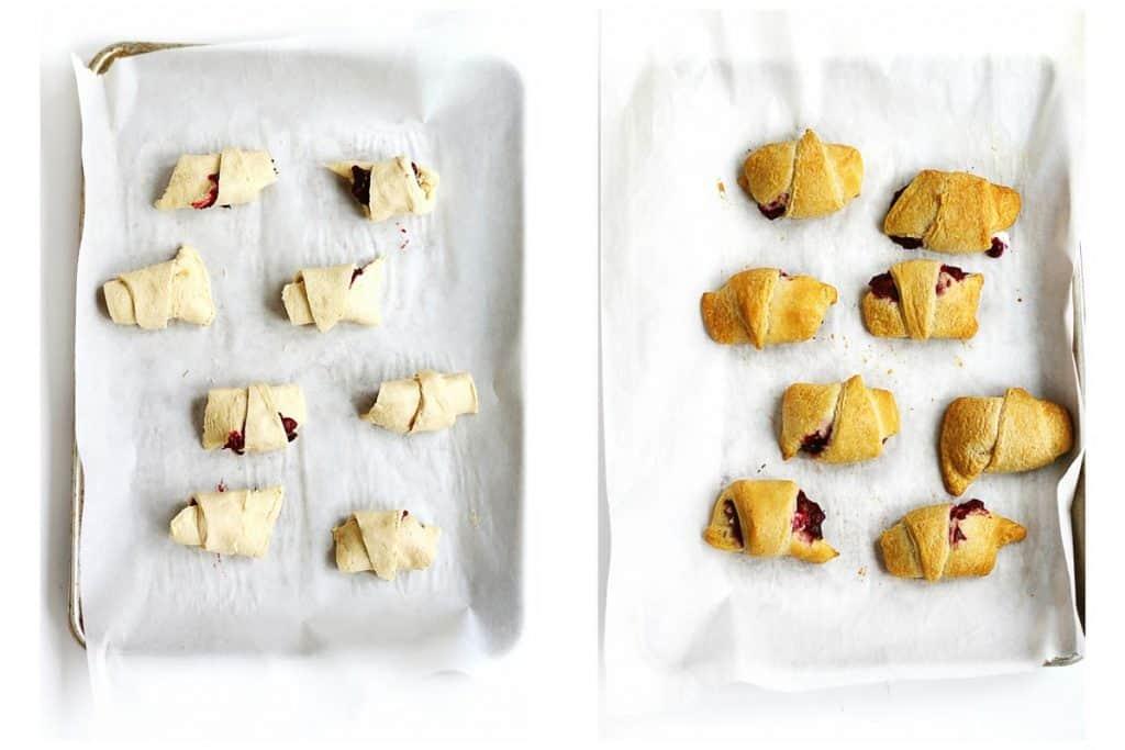 baking cranberry crescent rolls