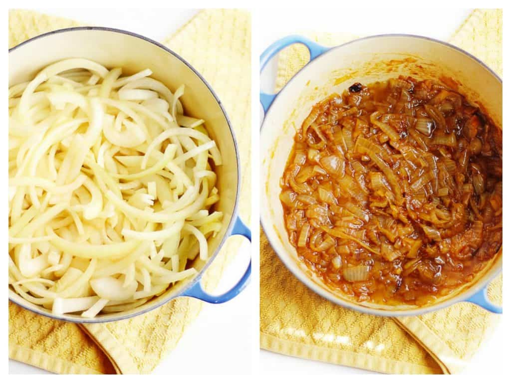 Caramelized onion pasta sauce