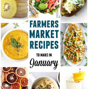 Farmers market January recipes