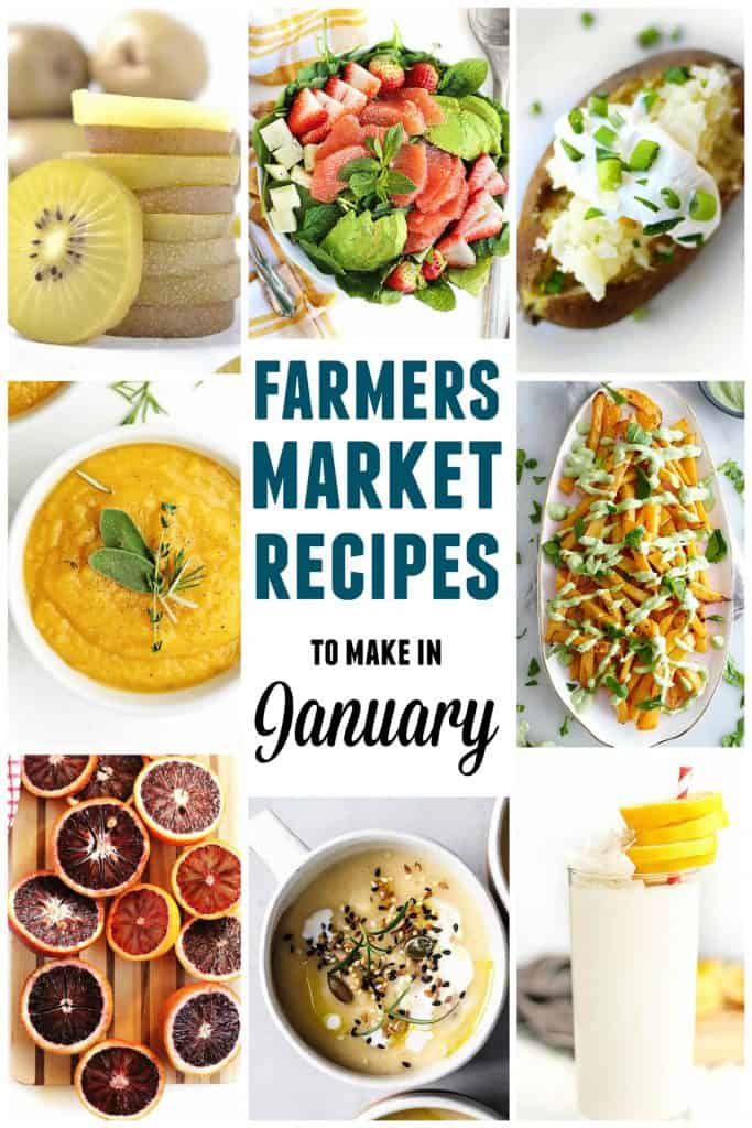 Farmers market January recipes