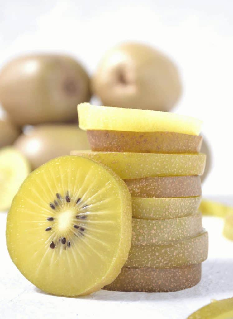stack of sliced kiwi