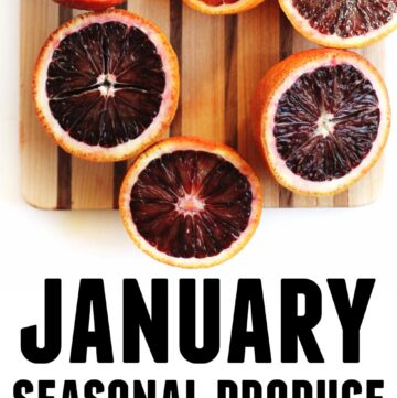 January seasonal produce and recipes graphic