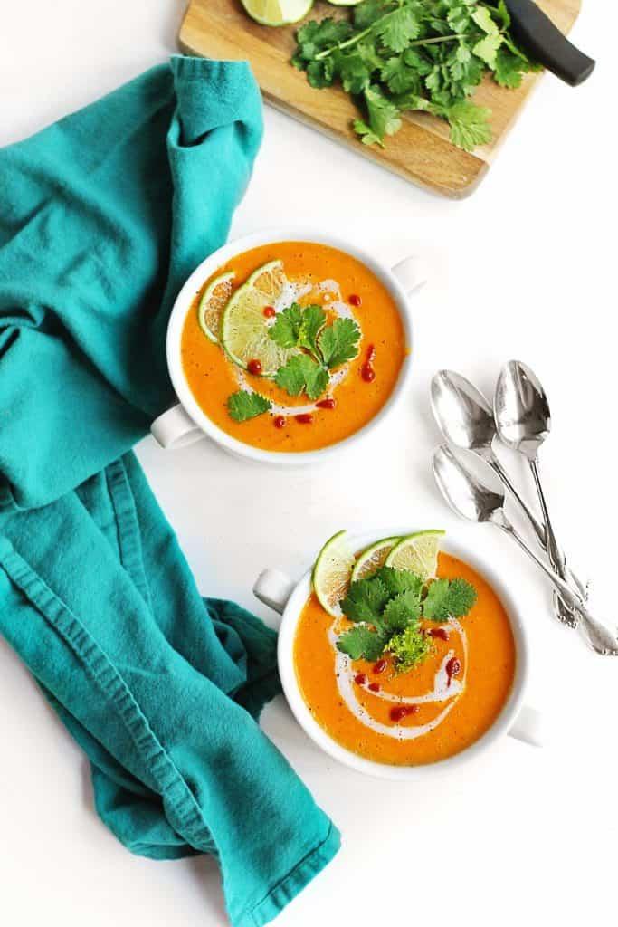 Coconut curry butternut squash soup