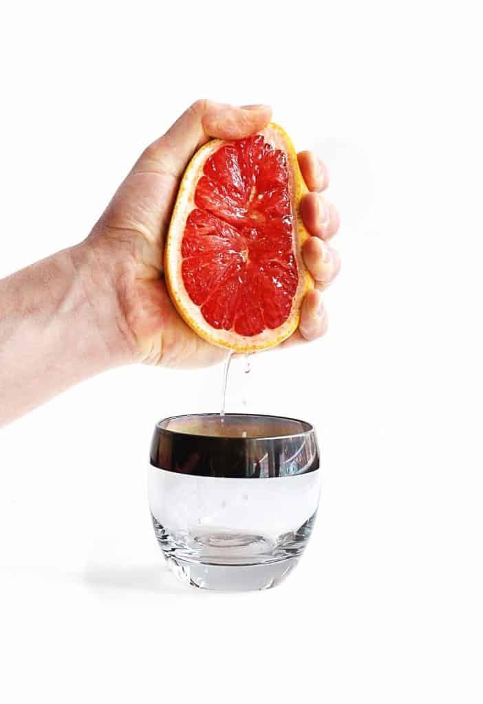 Fresh grapefruit juice