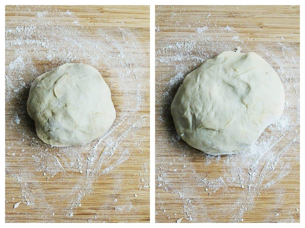 homemade pizza dough rising