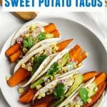 Winter ale marinated sweet potato tacos