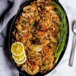 Fennel gratin with brown rice