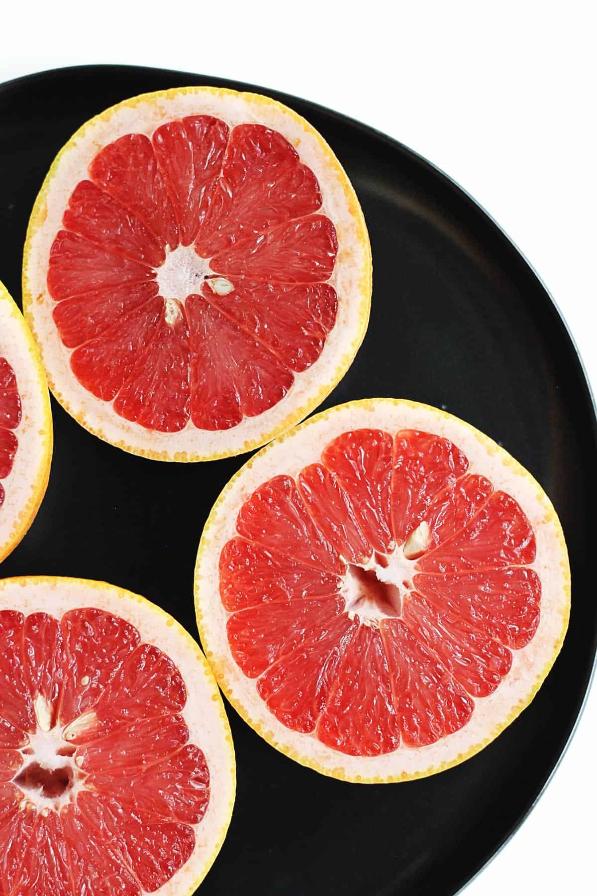 ruby grapefruit halves