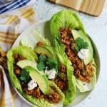 Plant based taco lettuce wraps