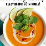 Easy Thai curried butternut squash soup