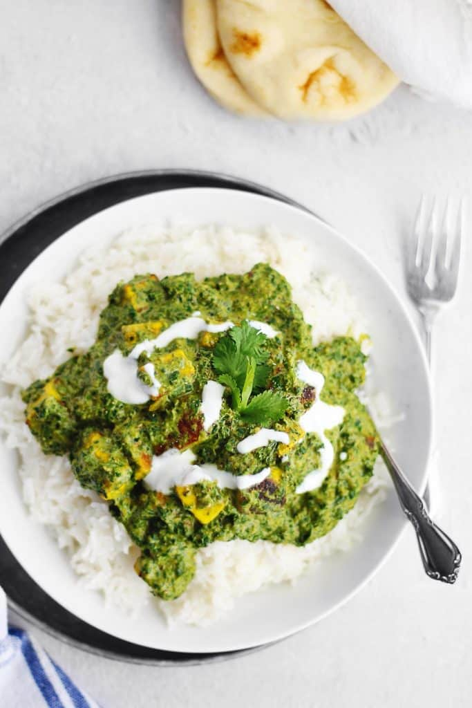 saag paneer recipe with rice