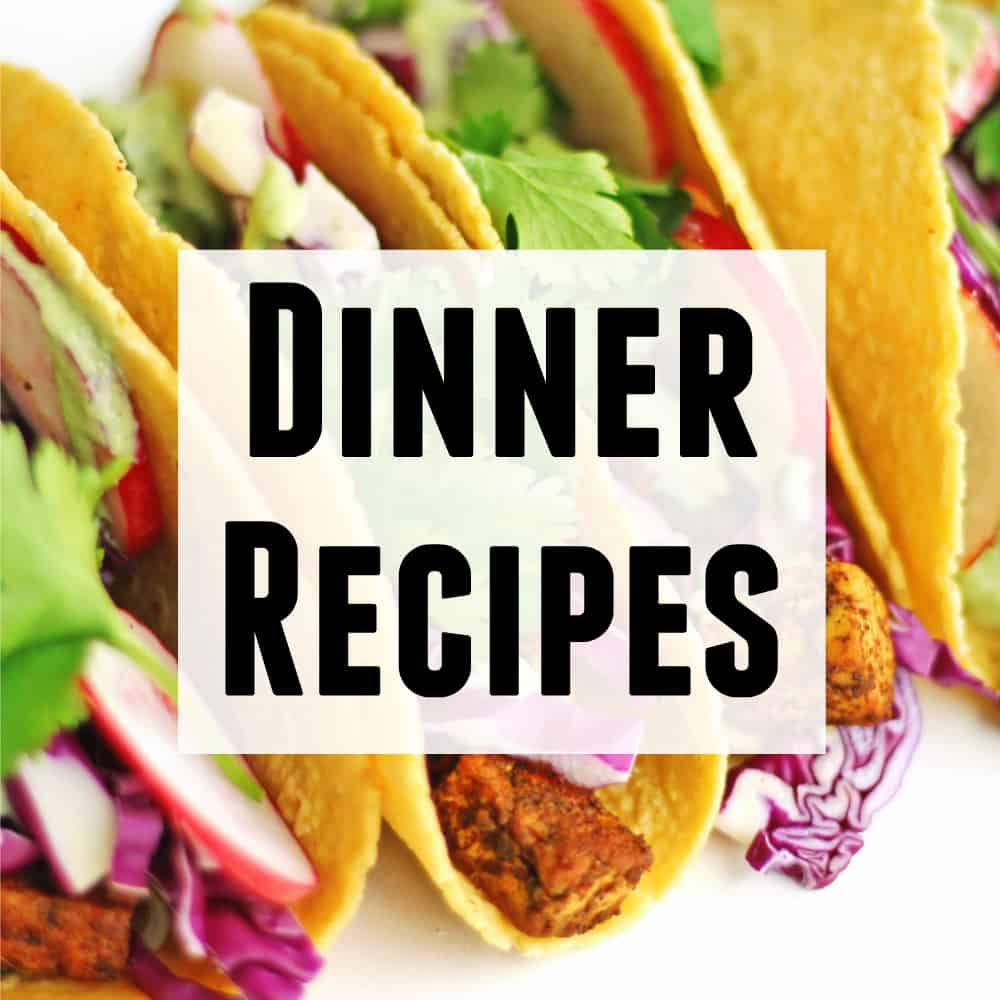 Dinner recipes text and photo