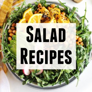 Salad recipes text photo