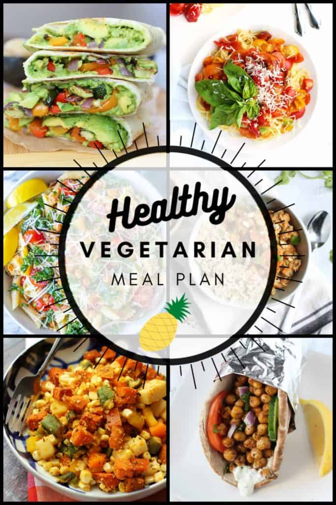 Healthy vegetarian meal plan week 34 pinterest graphic