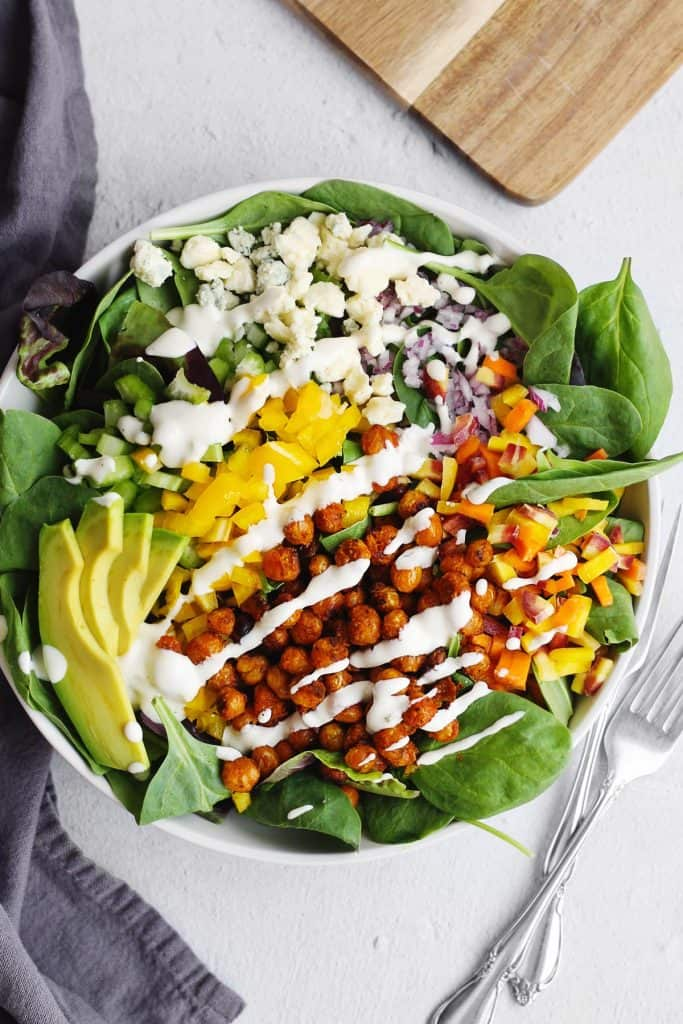 buffalo chickpea salad with ranch dressing