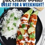 Chickpea curry zucchini boats pinterest pin
