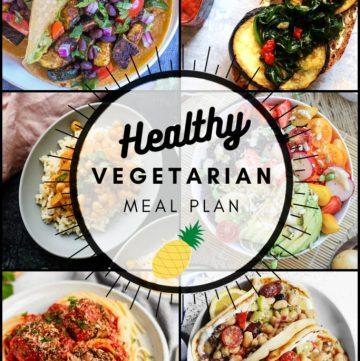 Healthy vegetarian meal plan week 33 pinterest graphic