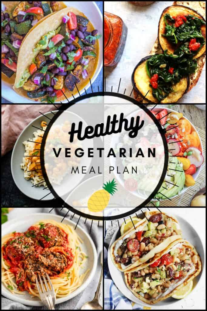 Healthy vegetarian meal plan week 33 pinterest graphic