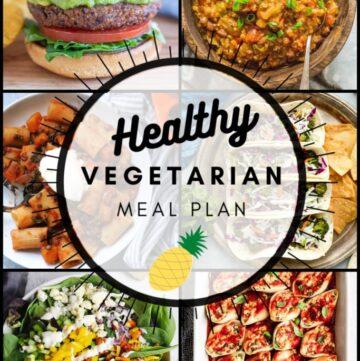 Healthy vegetarian meal plan week 39 collage
