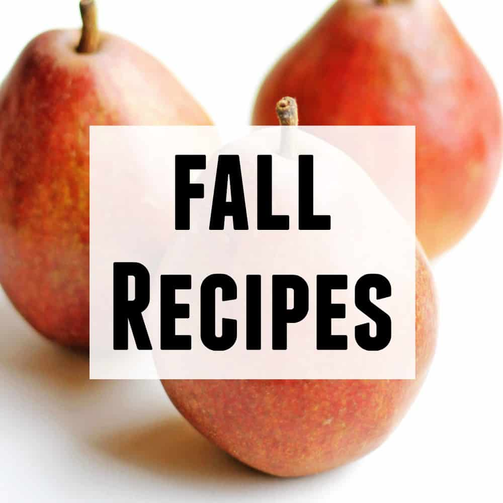 Fall recipes square graphic