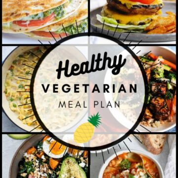 Healthy vegetarian meal plan week 36 pinterest collage graphic