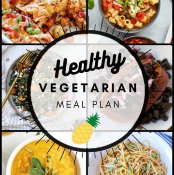 Healthy vegetarian meal plan week 43 graphic