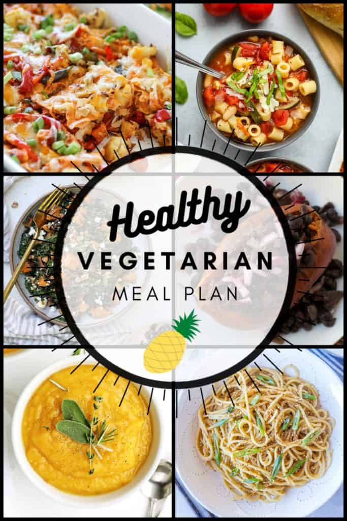 Healthy vegetarian meal plan week 43 graphic
