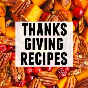 Thanksgiving recipes graphic
