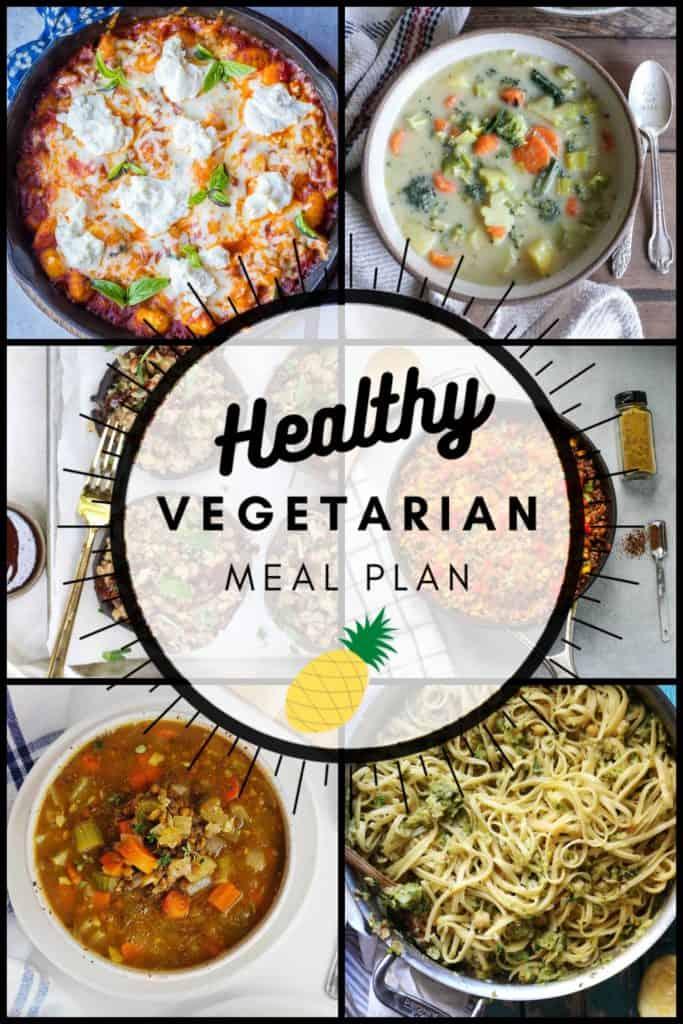 Healthy vegetarian meal plan week 46 collage