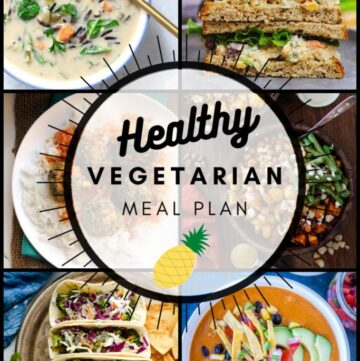 Healthy vegetarian meal plan week 47 graphic
