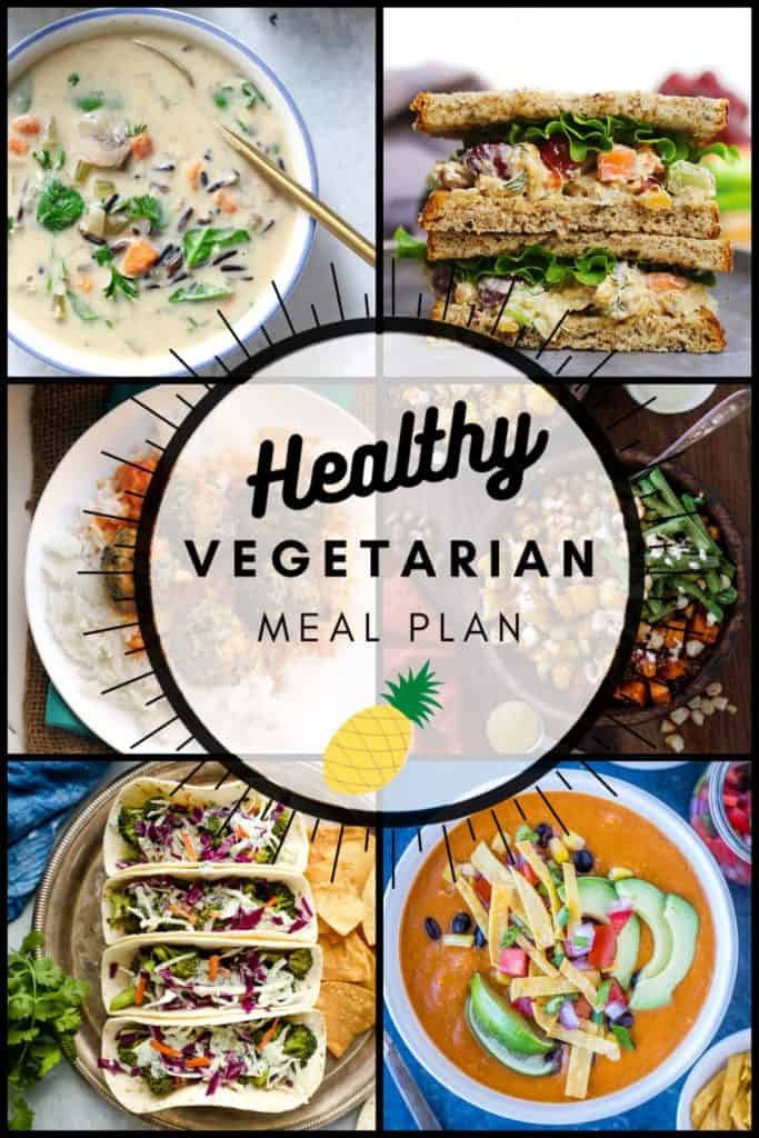 Healthy vegetarian meal plan week 47 graphic