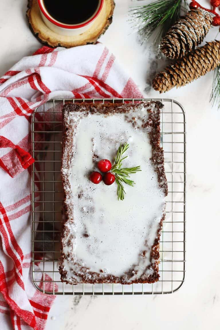 Homemade gingerbread with icing