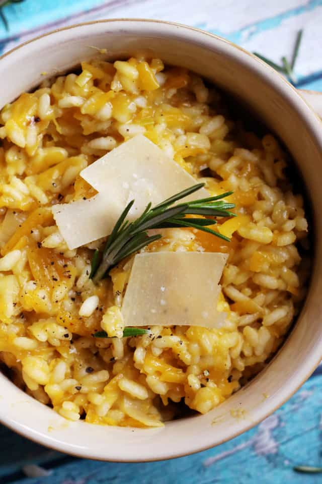 Butternut squash and rosemary risotto