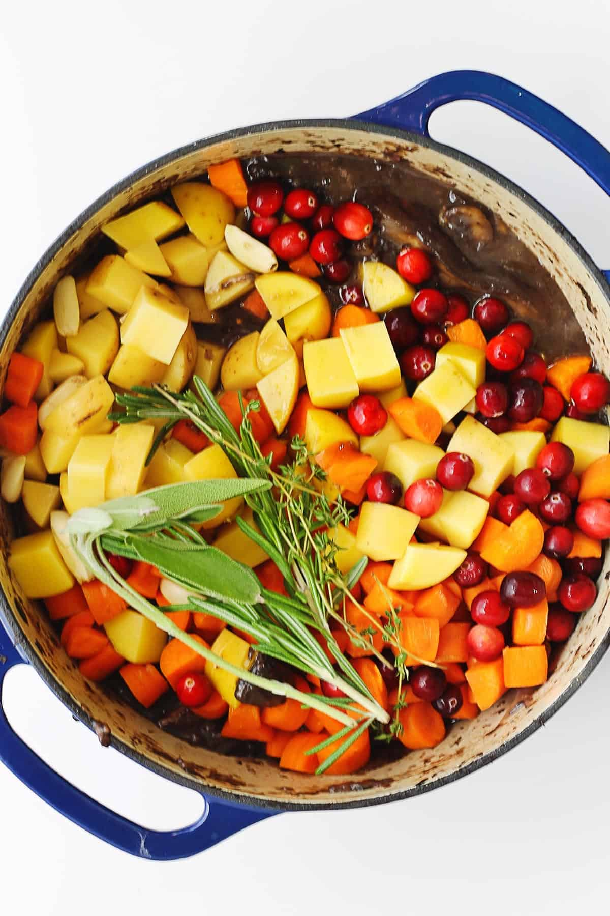 Vegetarian cranberry veggie pot roast