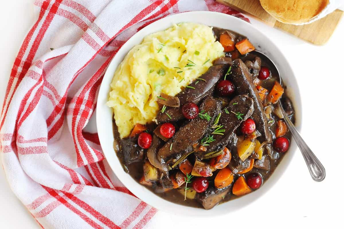 Vegan Christmas pot roast