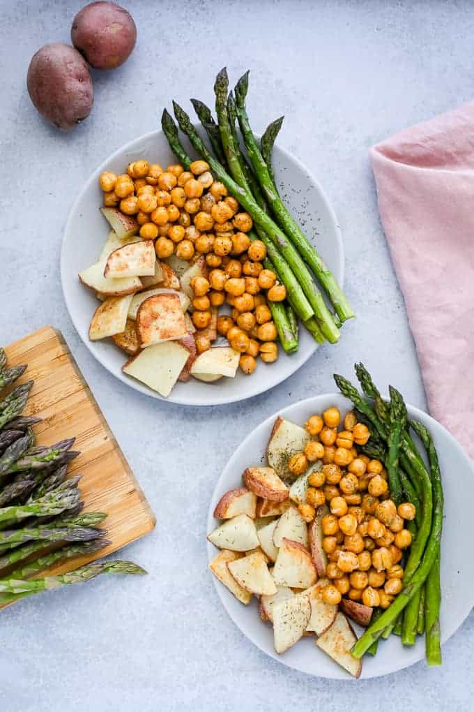 Sheet pan chickpeas and vegetables