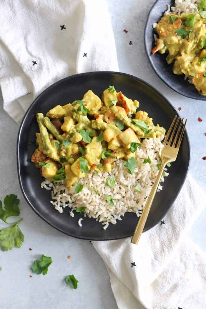 Creamy vegetable chickpea curry
