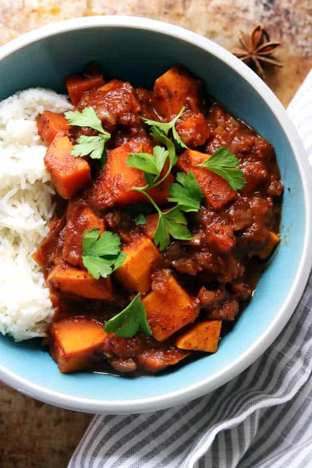 sweet potato vindaloo