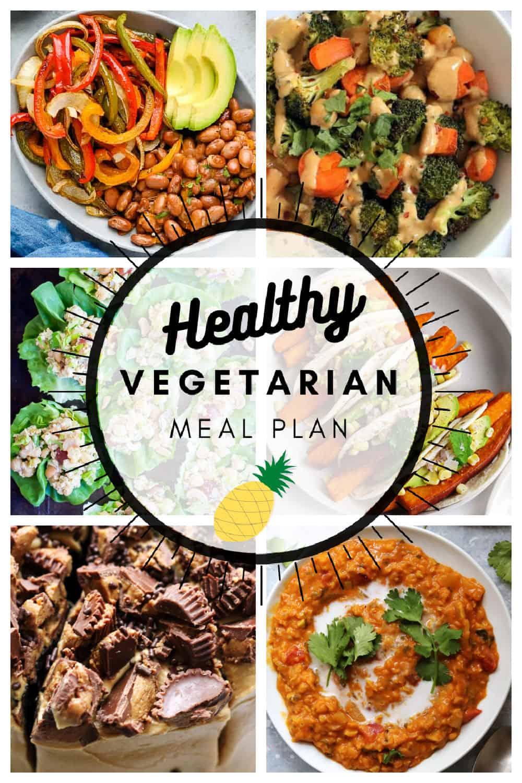 Healthy vegetarian meal plan week 2