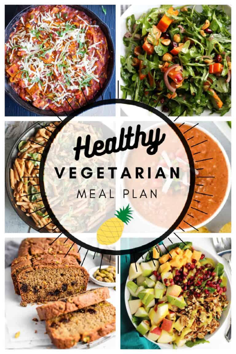 Healthy vegetarian meal plan week 3/52
