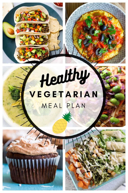 Healthy vegetarian meal plan week 4 graphic