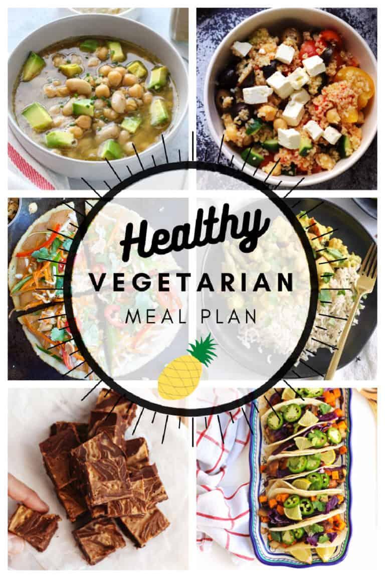 Healthy vegetarian meal plan week 5/52