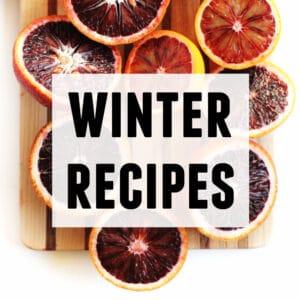 winter recipes graphic