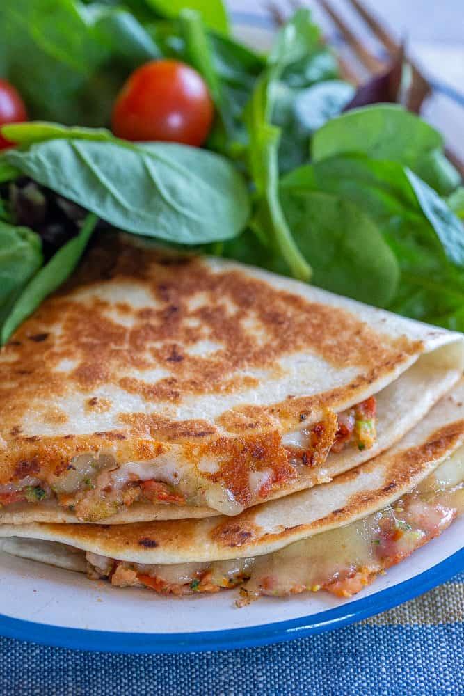Sun-dried tomato quesadillas