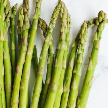 Asparagus spears close up